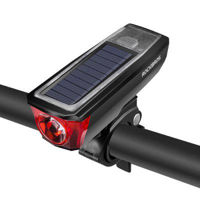 ROCKBROS HJ - 052 Outdoor USB Charging Solar Bike Front Light