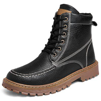 Dashing Solid Color Working Boots for Men
