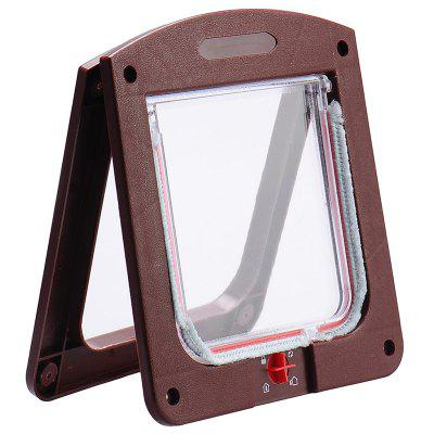 Pet Lockable Entry Exit 4 Way Cat Locking Safety Door