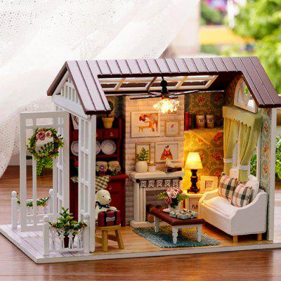 Forest Times Wood Miniature DIY Dollhouse Toy Set