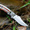 Tactical Camping Self-defense High Hardness Folding Knife - SILVER
