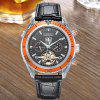 KIMSDUN K - 813D Mechanical Watch with Leather Band - MULTI-A