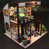 Kids Coffee House DIY Dollhouse Model Toy Gift Set - MULTI