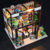 Ensemble de jouets pour enfants Coffee House DIY Dollhouse Model Toy - MULTI