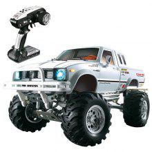 HG P407 1/10 24G 4WD Rally Rc Car for TOYATO Metal 4X4 Pickup Truck Rock Crawler RTR - White