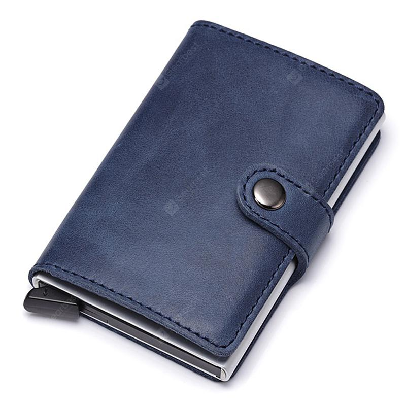 Male Trendy Anti - theft Solid Color Leather Wallet