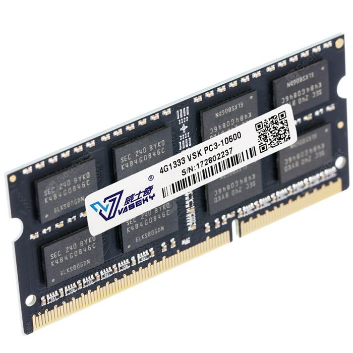Vaseky Laptop Memory Module DDR3 / 1333MHz / 4GB - Black