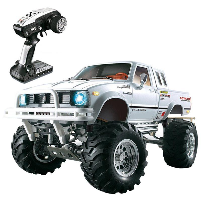 HG P407 1 / 10 2.4G 4WD Rally Rc Car for TOYATO Metal 4X4 Pickup Truck Rock Crawler RTR - WHITE