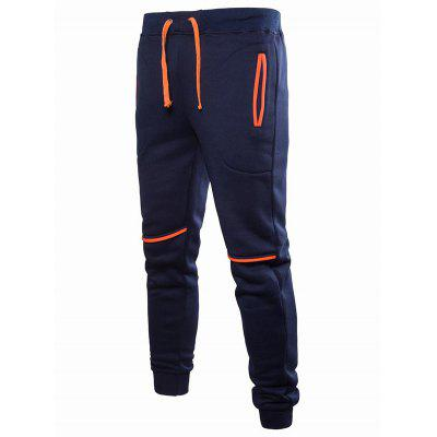 Male Stylish Solid Color Drawstring Sports Pants