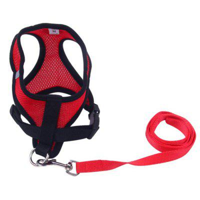 Breathable Dog Harness Chest Strap Free Leash Set