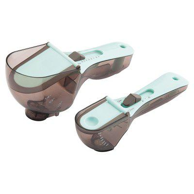 Adjustable Scale-measuring Spoon for Kitchen 2pcs