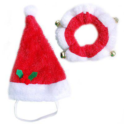 Cat Dog Christmas Costume Clothes Hat Scarf for Pet