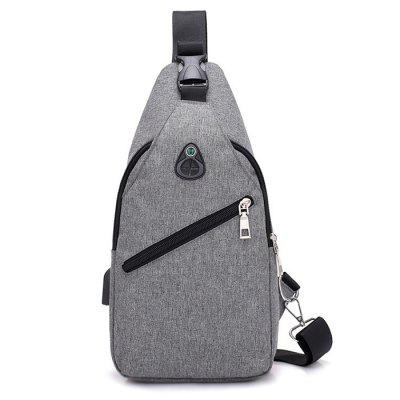 USB Port Design Polyester Men's Chest Bag
