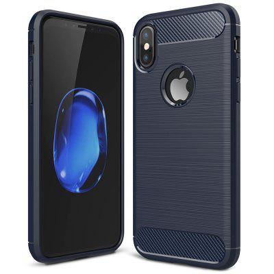ASLING Carbon Fiber TPU Phone Case for iPhone XS