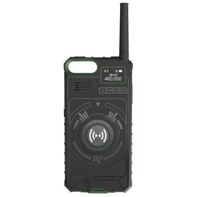 NO.1 Ip01 Phone Case Wireless Walkie Talkie 5km Range Two Way Radio with OLED Screen Short Antenna for iPhone 6 / 7 / 8 / X