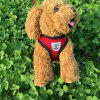 Breathable Dog Harness Chest Strap Free Leash Set - RED