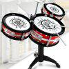 Trendy Kids Drum Set Musical Instrument - BLACK