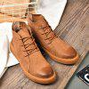 Winter Warm Leather Lace Up Men's Shoes Boots - SANDY BROWN