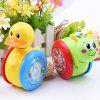 Cartoon Snail Tumbler Doll Cute Rattles Baby Toys Christmas Gift - LAWN GREEN