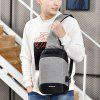 Creative USB Port Design Chest Bag - LIGHT GRAY