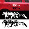 Pentium Horse Totem Personality Reflective Car Sticker - BLACK