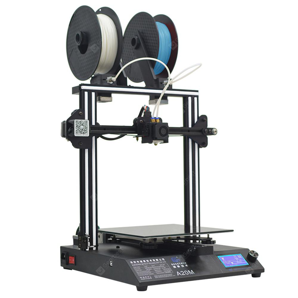 GEEETECH A20M Mix-color 3D Printer - WHITE EU PLUG