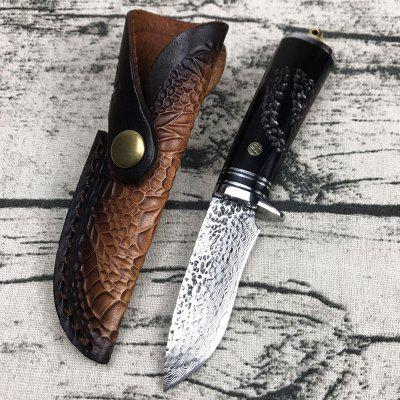 Outdoor Camping Sharp Damascus Steel Straight Knife