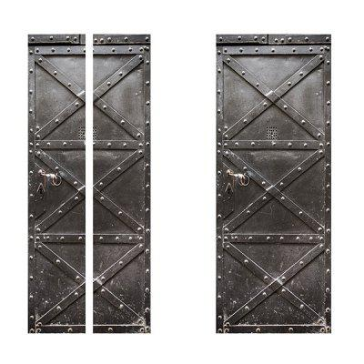 Iron Gate Effect Waterproof Wallpaper for Living Room Bedroom 2pcs