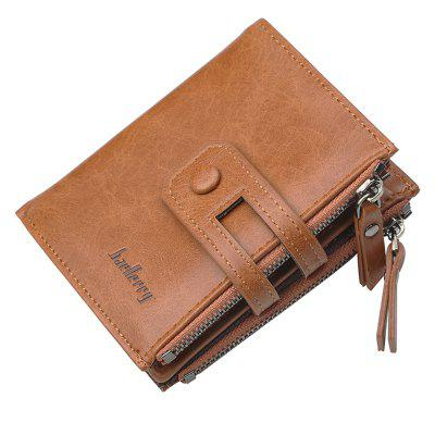 Baellerry Retro Buckle Multi-functional Zipper Wallet