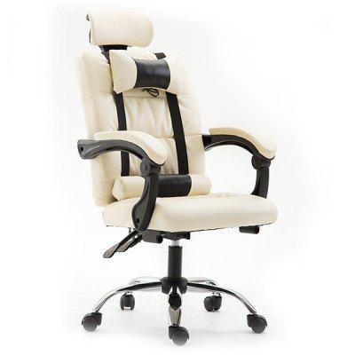 Office Gaming Massage Chair Ergonomic Computer Chair with Headrest Pillow