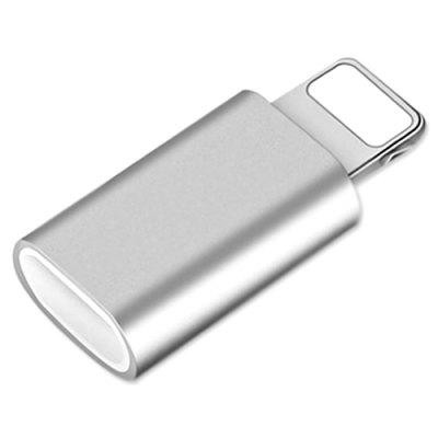 Aluminum Alloy Micro USB Female to 8-pin Male Adapter