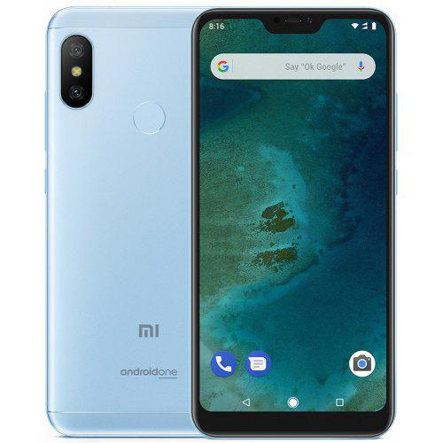 Gearbest Xiaomi Mi A2 Lite 4G Phablet Global Version - LIGHT SKY BLUE 3GB RAM + 32GB ROM 3GB RAM 32GB ROM 12.0MP + 5.0MP Dual Rear Cameras Fingerprint Sensor