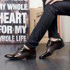 Men Comfortable Business Leather Shoes - DEEP BROWN