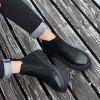 Fashion Solid Color Boots for Man - BLACK