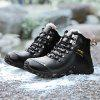 Genuine Leather Casual Wearable Shoes Boots for Men - BLACK