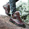 Genuine Leather Casual Wearable Shoes Boots for Men - BROWN