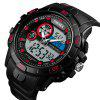 SKMEI 1428 Outdoor Multi-function Digital Watch for Man - RED