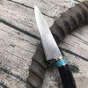 Outdoor Straight Self Fixed Fixed Blade Knife - CZARNY
