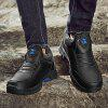 Waterproof and Velvet Leather Men's Boots - BLACK