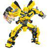 Transformation Robot Assembly Building Blocks Model - YELLOW