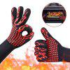 Yarn High Heat Resistant Silicone Cotton Insulation Glove 1pc - RED