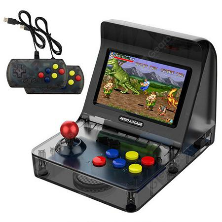 Mini Retro Arcade Handheld Game Console Rocker Double Gamepads - BLACK