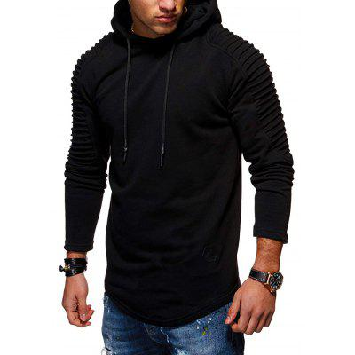 Concise Stylish Solid Color Slim Hoodie for Men