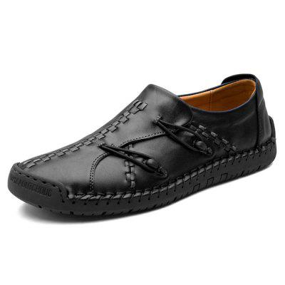 Men Stylish Casual Leather Leisure Comfortable Flat Shoes
