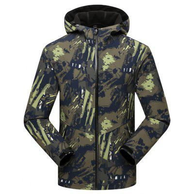 Male Trendy Warm Waterproof Outdoor Camouflage Coat