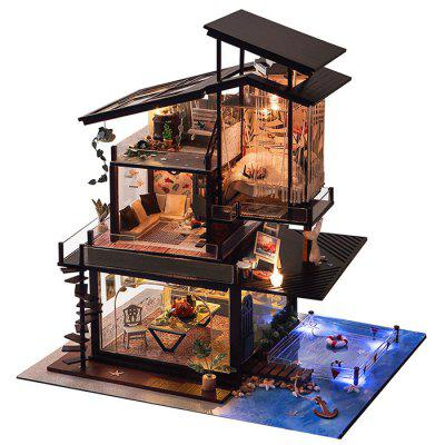 DIY Valencia Coastal Villa Dollhouse Miniature Furniture Set Gift