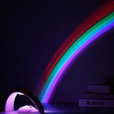 Colorful Creative LED Rainbow Projecting Lamp