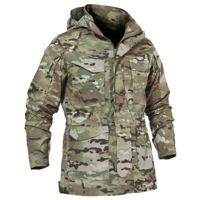 Outdoor Waterproof Comfortable Camouflage Hooded Jacket