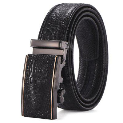 Fashion Business Leather Automatic Buckle Trouser Belt