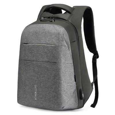 Large Capacity USB Port Design Men's Backpack